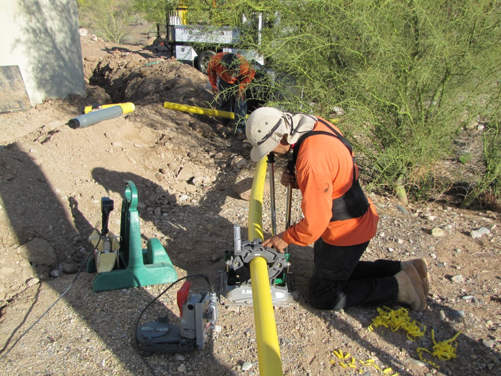 natural gas line installations