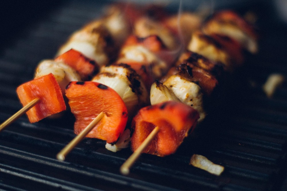 Outdoor grilling on natural gas grill