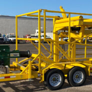 Natural Gas Coiled Pipe LineTamer Trailer for Rent