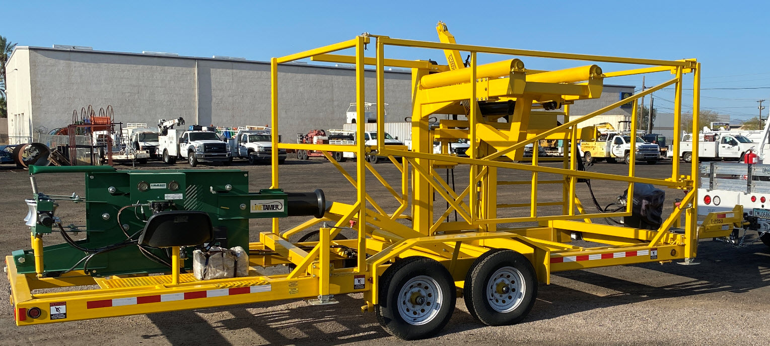 """3""""-6"""" Mcelroy Line Tamer with Trailer-Self loading-1"""