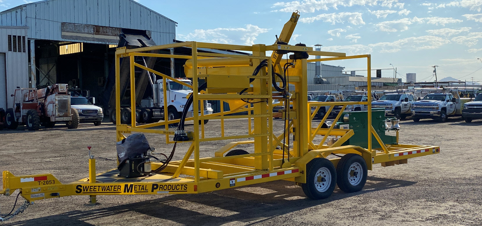 """3""""-6"""" Mcelroy Line Tamer with Trailer-Self loading-2"""