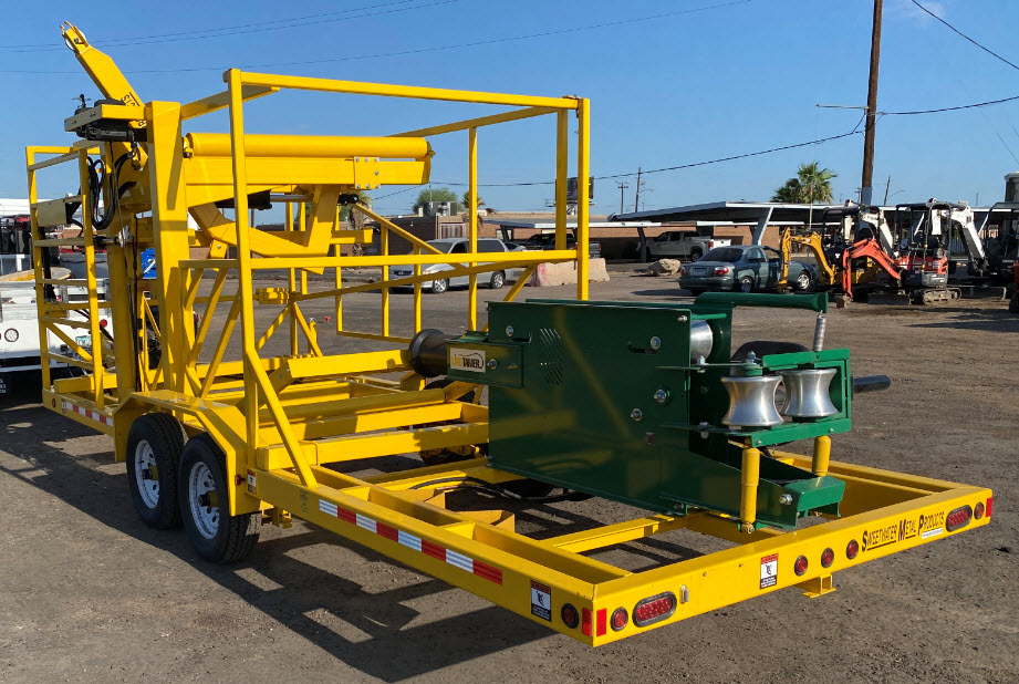 """3""""-6"""" Mcelroy Line Tamer with Trailer-Self loading-3"""