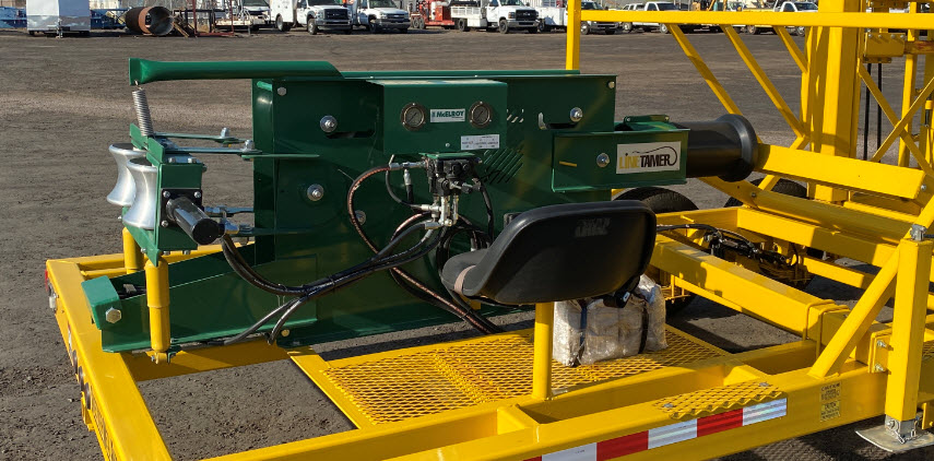 """3""""-6"""" Mcelroy Line Tamer with Trailer-Self loading-4"""